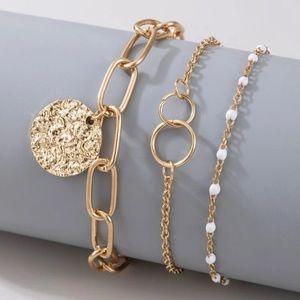 3 Piece Coin Bracelet Set